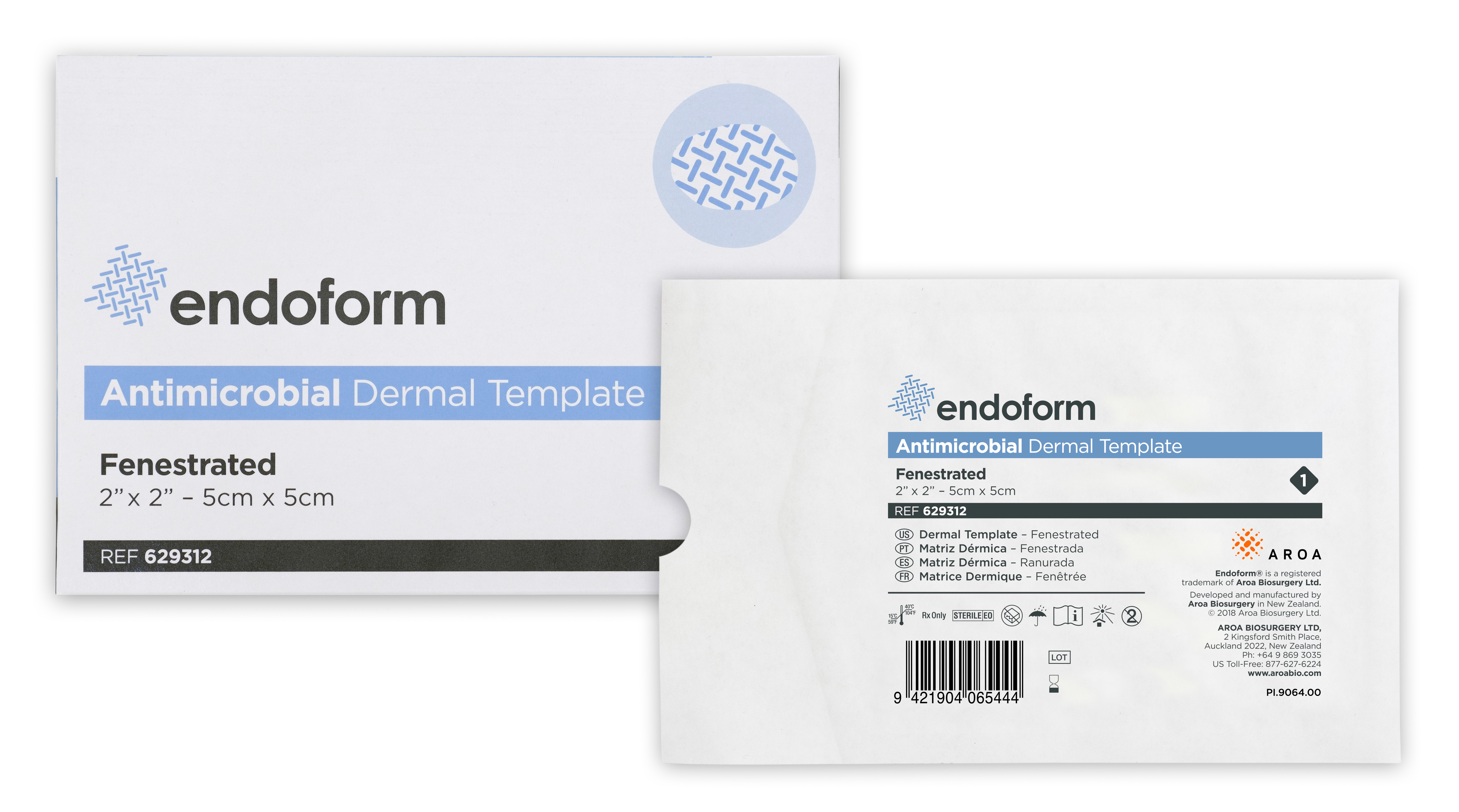 Endoform Antimicrobial Dermal Template Non Fenestrated