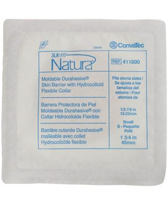 Sur-Fit Natura Durahesive Skin Barrier With Hydrocolloid Flexible Collar
