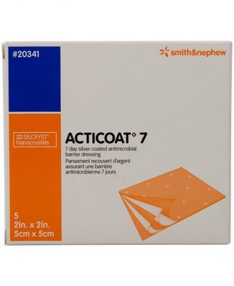 Acticoat 7 Silver-Coated Antimicrobial Barrier Dressing