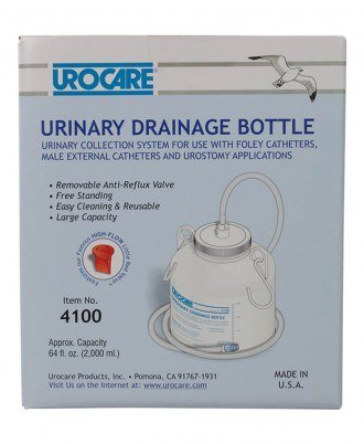 """Urocare Drainage Bottle with 60"""" tubing"""