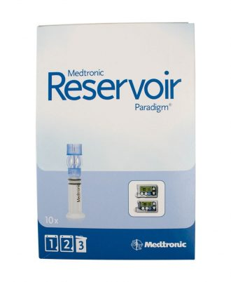 Medtronic Paradigm Pump Reservoir 1.8mL, Paradigm Connection, Traditional Luer Lock System, Silicone Membrane, For 5 Series Insulin Pumps