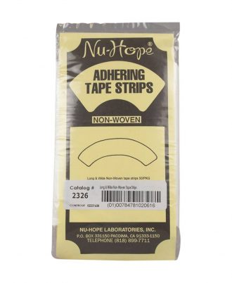 Adhering Curved Tape Strips, Long and Wide, Non-Woven