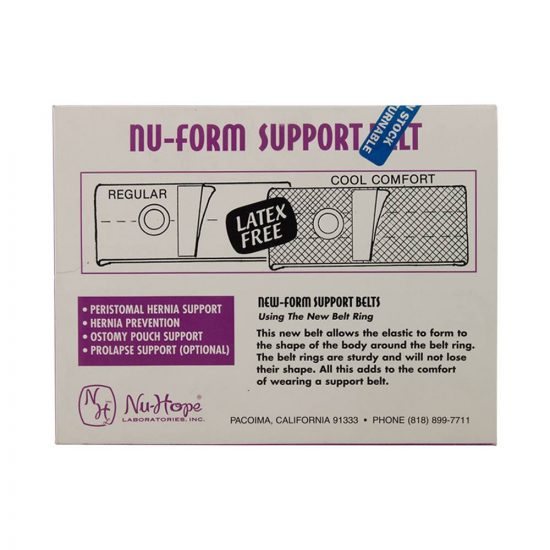Nu-Form Support Belt, Cool Comfort Elastic, Right Sided Stoma