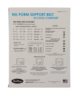 Nu-Form Support Belt, Cool Comfort Elastic, Right Sided Stoma, Prolapse Overbelt